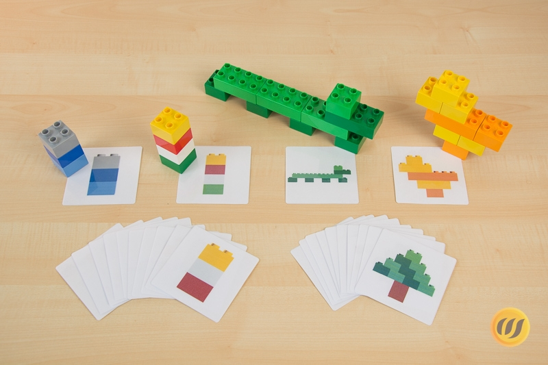 Alphabet Lego Cards Uppercase Free Printable